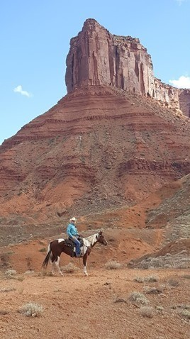 James Gault Actor Riding Horse Desert