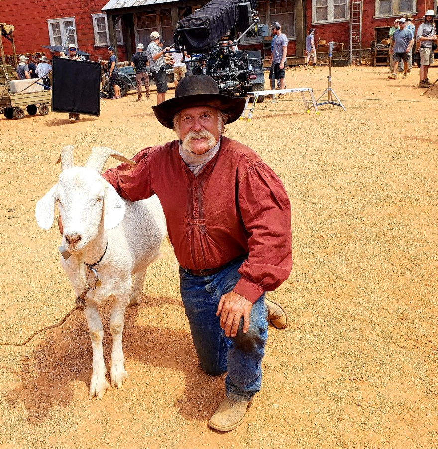 Cowboy Jim with Goat