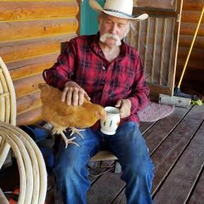 Cowboy Jim with Chicken