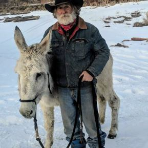 james gault with mule